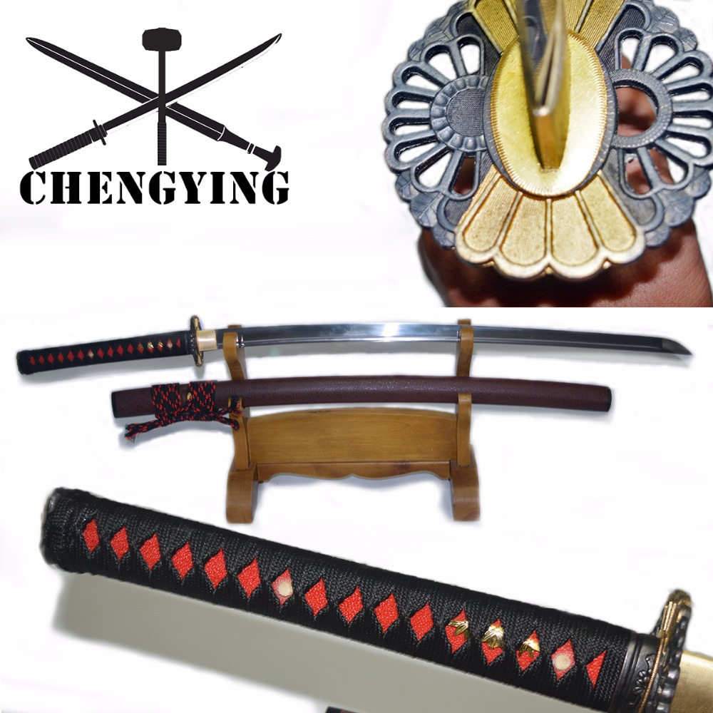 9260 Spring Steel Hand Forged Quenched Japanese Katana Samurai combat readiness