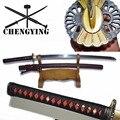 9260 Lente Staal Hand Gesmeed Geblust Japanse Katana Samurai combat readiness