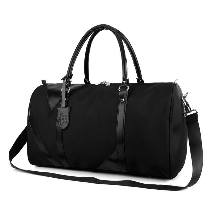 d77fba888060 Большой ёмкость для мужчин Дорожная сумка водостойкие PU Оксфорд мужской  чемодан Duffe сумки чемодан путешествия плеча Tote malas de viagem