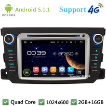 Quad Core 1024*600 Android 5.1.1 Car DVD Player Radio Stereo DAB 3G/4G WIFI GPS Map For Mercedes-Benz Smart Fortwo 2011-2014