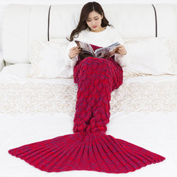 New Mermaid Blanket Knitted Mermaid Tail Blanket Children's Blanket,birthday gift . baby Photography props blanket