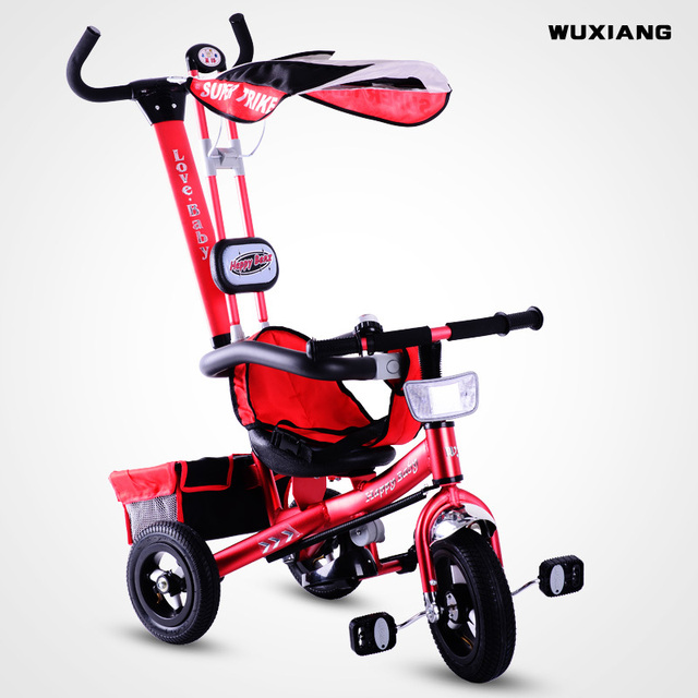 c0193684ec9 Wuxiang Children/Bicycle Kids Trike/Pedicab /Aluminum Alloy Tricycle,  Pneumatic tire, 3 Wheel Bicycle with Back Carriage