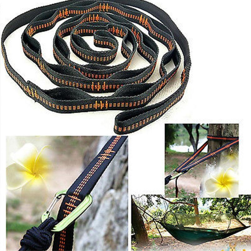 Outdoor Camping Strong Hammock Strap Rope Hanging Belt With 2/12/15 Loops Double Hammock Tree Straps Hiking Rope Accessories