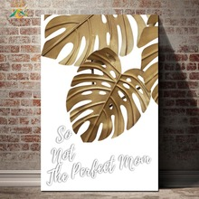 Gold Nature Plants Nordic Posters And Prints Modern Canvas Art Painting Wall Decorative Pictures for Living Room