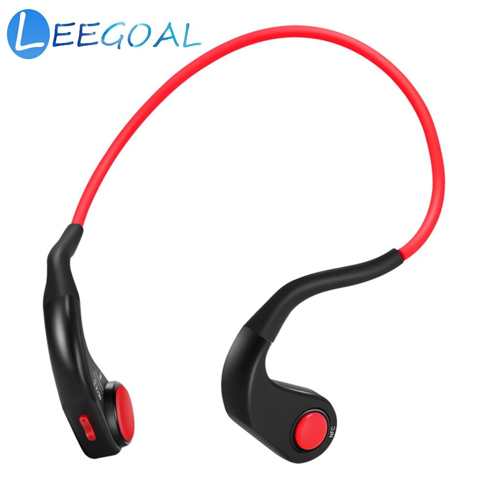 Écouteurs à Conduction osseuse Bluetooth sans fil HiFi stéréo sport IP55 casques étanches avec micro pour la course à pied conduite vélo