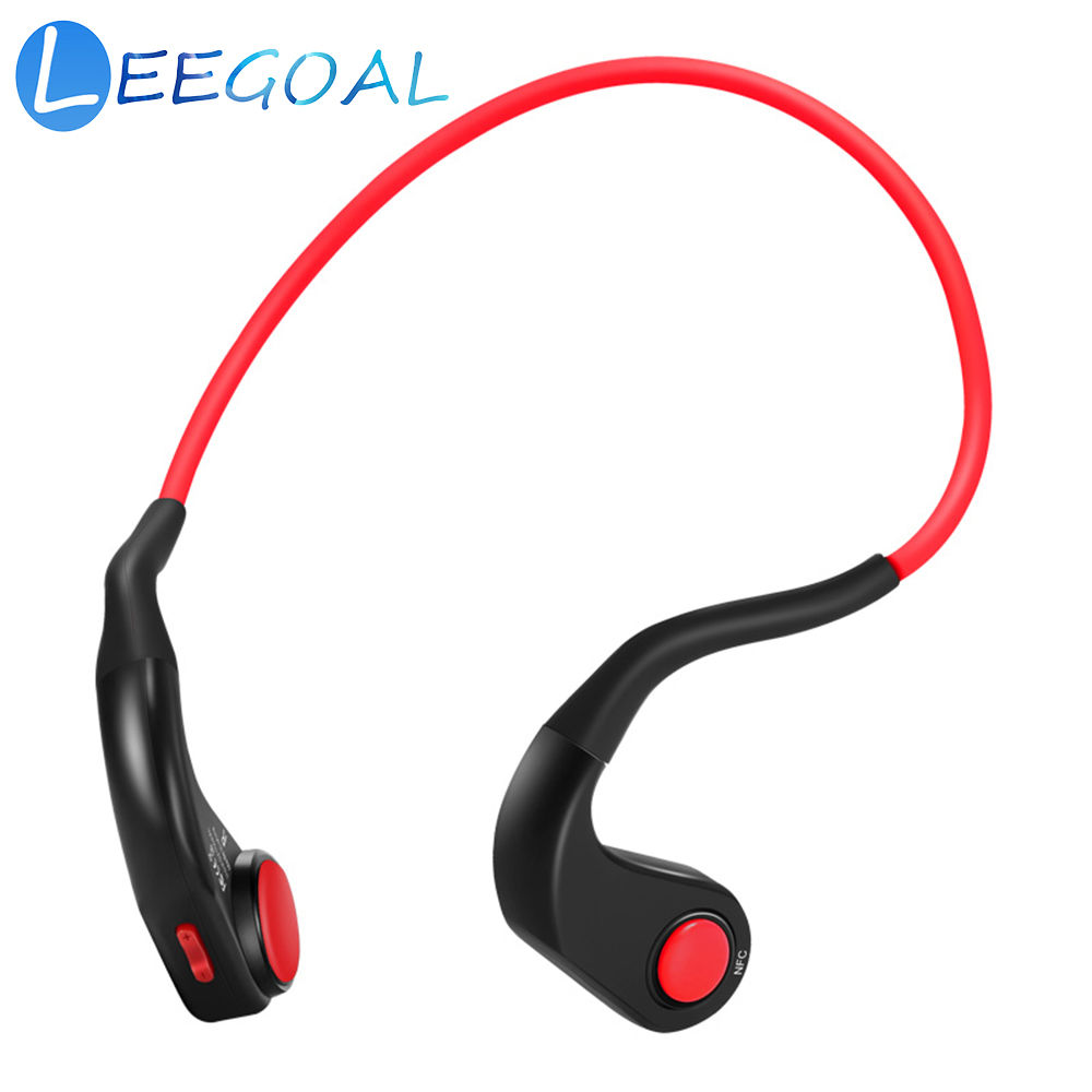 Auriculares de conducción ósea inalámbrica Bluetooth estéreo de alta fidelidad deportes IP55 impermeable auriculares con micrófono para correr, ciclismo,