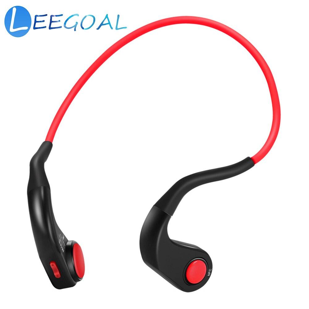 Condução óssea Fones De Ouvido Sem Fio Bluetooth Estéreo de Alta Fidelidade IP55 Fones de Ouvido com Microfone À Prova D' Água para a Execução de Esportes Ciclismo de Condução