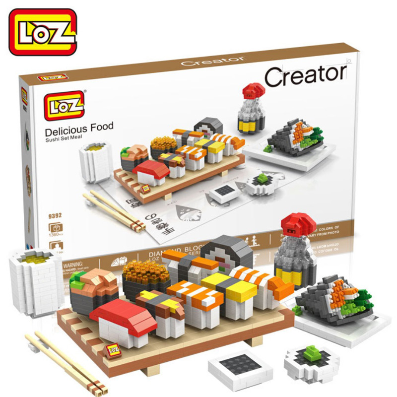 Delicious Food  Building Blocks  Action Figure Educational Kids Children Toys brinquedos juguetes menino