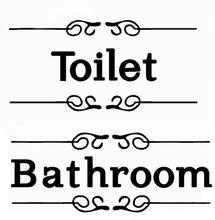 Naklejka na drzwi Toilet