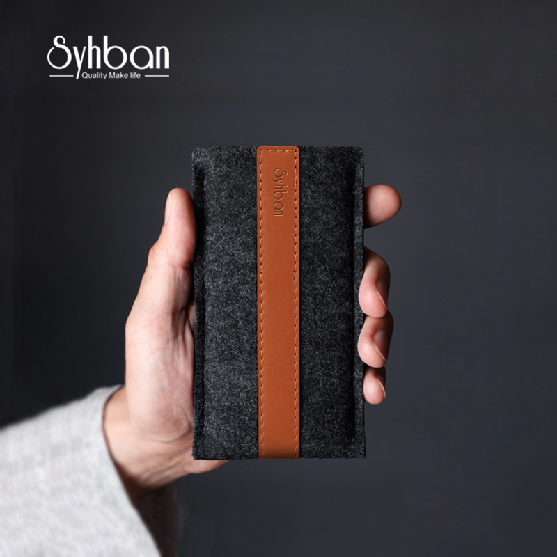 Handmade Wool Felt Wallet Style for iPhone X 6S 7S 8/for SamsungS8/S8+ mobile phone serie This Classic of minimalist luxury 100%