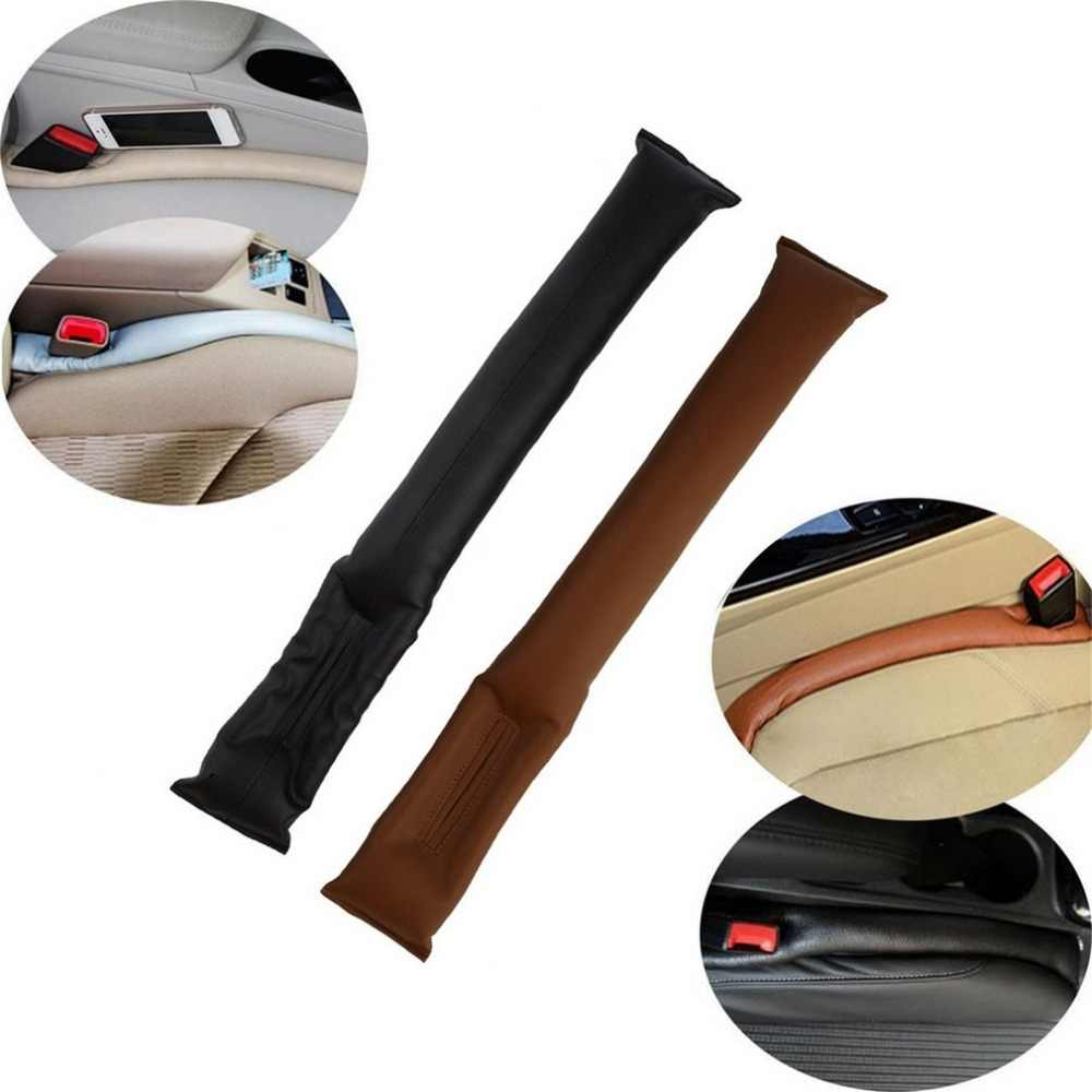 Car Seat Crevice Gap Stopper soft PU Leather Leakproof Protector brown/beige/grey/black car seat covers DIY easy wholesale