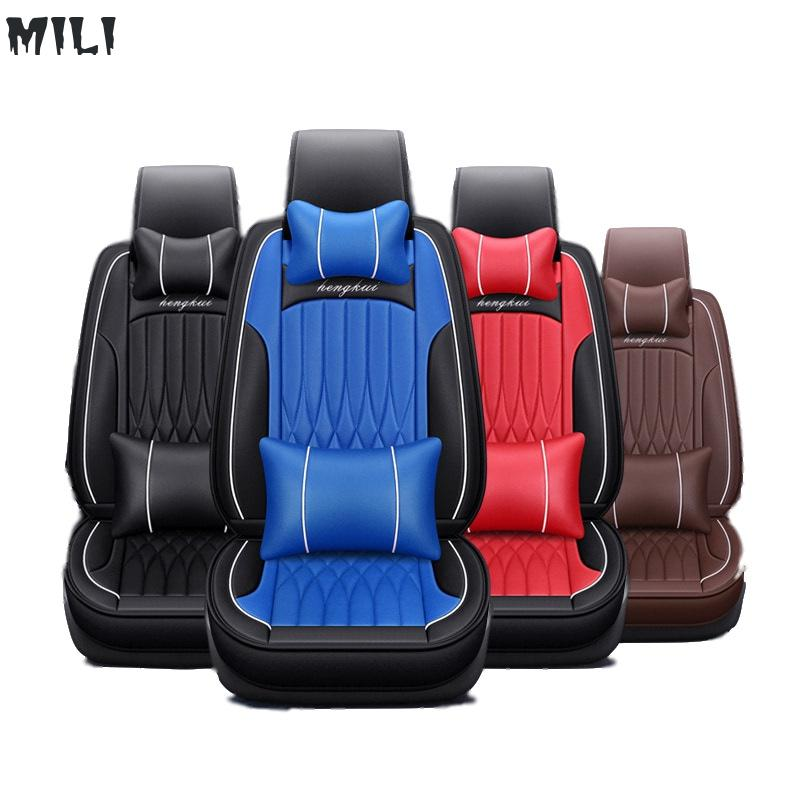 Universal PU Leather car seat covers For Toyota Corolla Camry Rav4 Auris Prius Yalis Avensis SUV auto accessories car sticksUniversal PU Leather car seat covers For Toyota Corolla Camry Rav4 Auris Prius Yalis Avensis SUV auto accessories car sticks