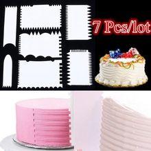 7 шт./компл. торт скребок для помадной массы мусс для крема шпатель край гладкой Кухня торт форма для печенья выпечки инструменты для украшения