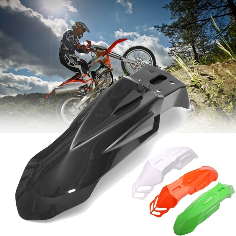 Free Shipping Plastic Universal Supermoto Evo Black Front Fenders For Honda Yamaha Suzuki KTM DRZ KX YZ KTM WR XR-in Covers & Ornamental Mouldings from Automobiles & Motorcycles