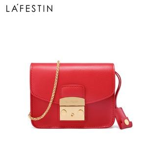 Image 3 - LAFESTIN Famous Shoulder Bag Women Designer Real Leather Flap Crossbody Bag Luxury Totes Multifunction brands Bag bolsa