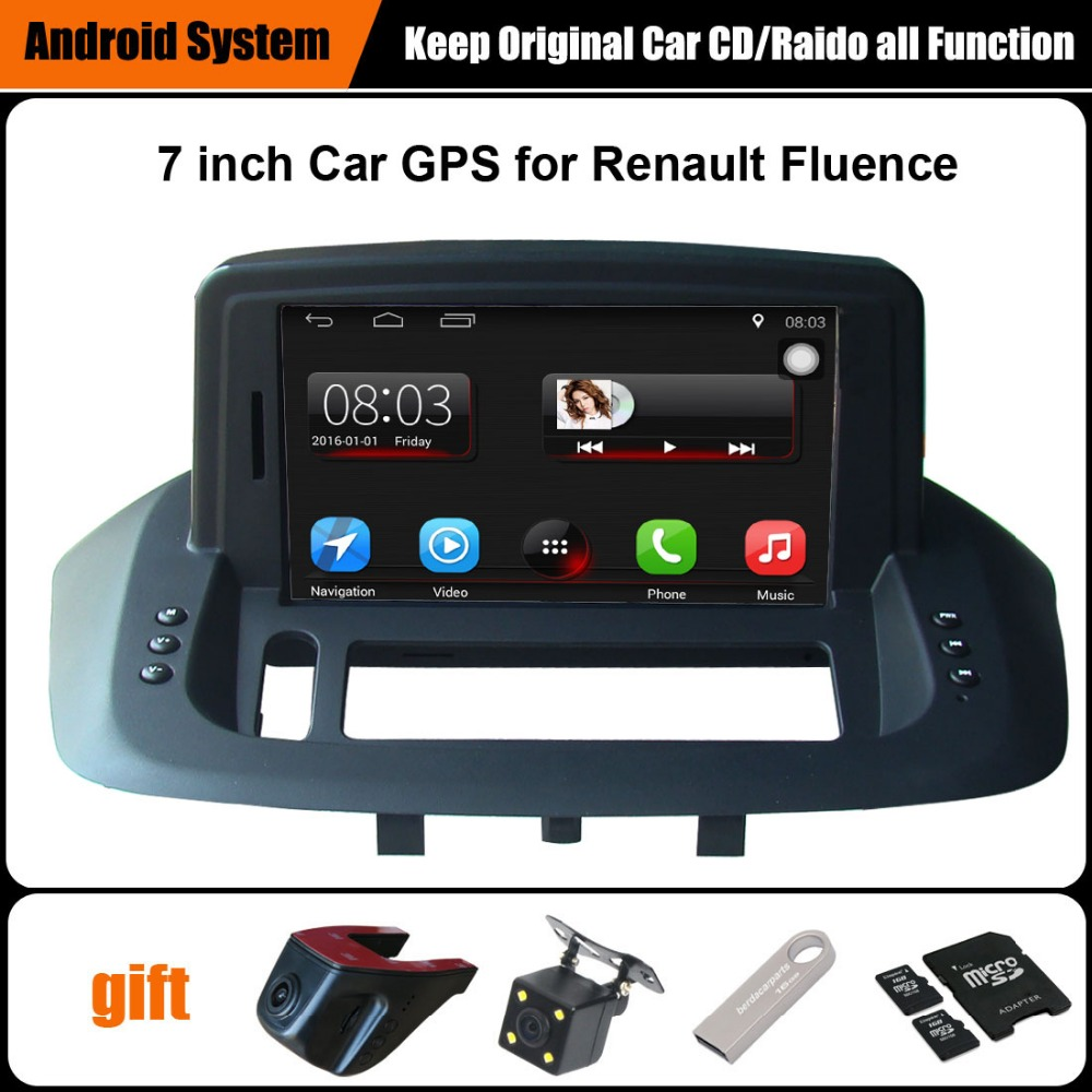 upgraded original car multimedia player car gps navigation suit to renault fluence support wifi. Black Bedroom Furniture Sets. Home Design Ideas