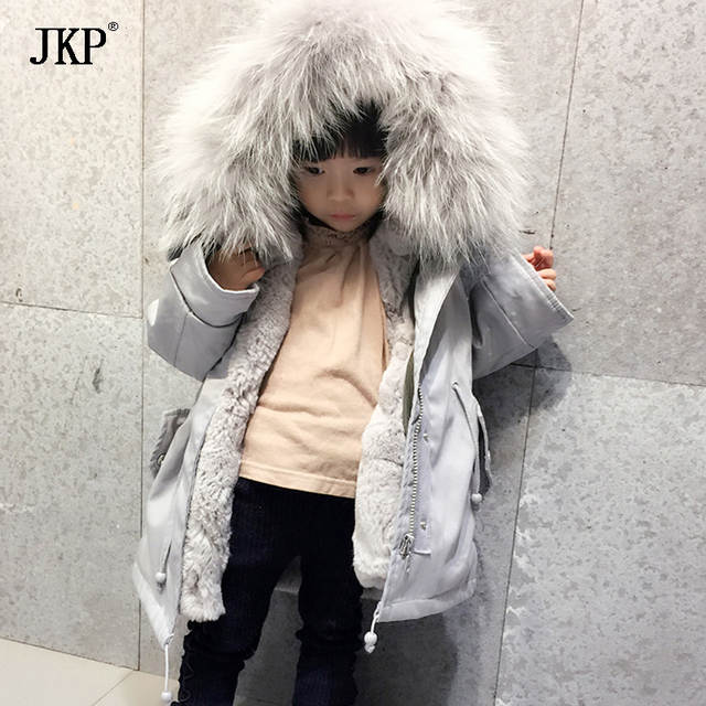 0c7635d02 Online Shop Winter Children Real Fur Parkas Camoufalge Kids Real fox ...