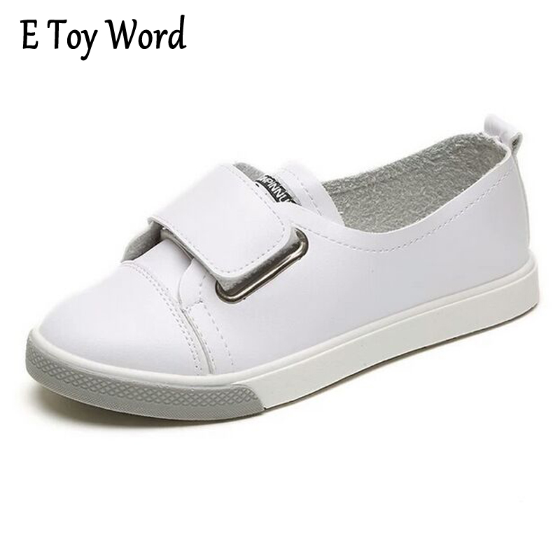 E TOY WORD Leather Casual Shoes For Women Flats Solid Casual 2017 Autumn Round Toe Split Leather Hook&Loop Women Boat Shoes F34 word 98 for macs for dummies