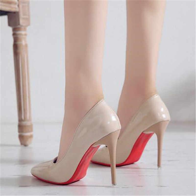 2019 yeni ultra yüksek topuklu kadın sığ ağız alçak ayak ayakkabı sivri kadın ayakkabısı stiletto iş ayakkabısı kadın pompaları