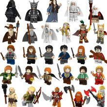 For Legoing Harry Potter Action Lord of the Rings Bilbo Baggins Figure Dwarf Uruk Hais Orc Azog Yazneg Bombur Building Block Toy(China)