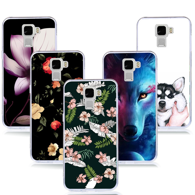 huge discount 112b4 8cfec US $1.99 |For Huawei Honor 7 Case Floral Flamingo Printed Silicon Soft TPU  Back Cover Mobile Phone Cases for Honor 7 Capa Cases Cover-in Fitted Cases  ...