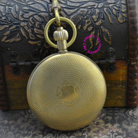 Wholesale Buyer Price Good Quality New Retro Vintage Classic Pattern Short Hand Copper Brass Mechanical Pocket Watch