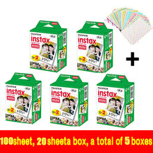 Подлинная Fujifilm Instax Mini 100 лист Фильм Мгновенно Белый Край Для Fuji Мини 7 s 8 25 50 s 70 90 300 и Доля SP-1