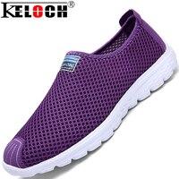 Keloch hombres transpirable zapatos 2016 nuevo acoplamiento de la manera & red zapatos de los hombres perezosos zapatos casuales resbalón-en grande tamaño de los zapatos 35-45