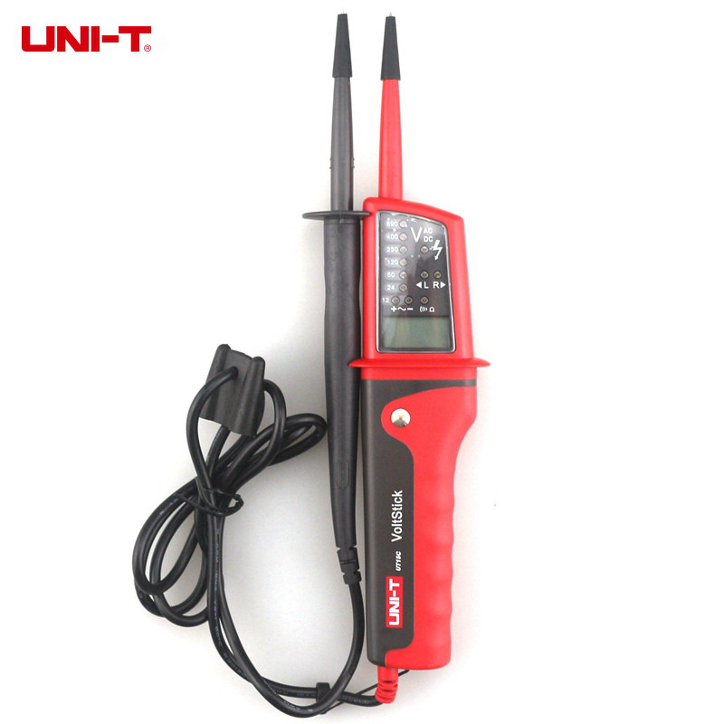 UNI T UT15C LCD Display Waterproof IP65 Type Voltage Tester voltmeter voltimetro voltage meter electric tester diagnostic tool