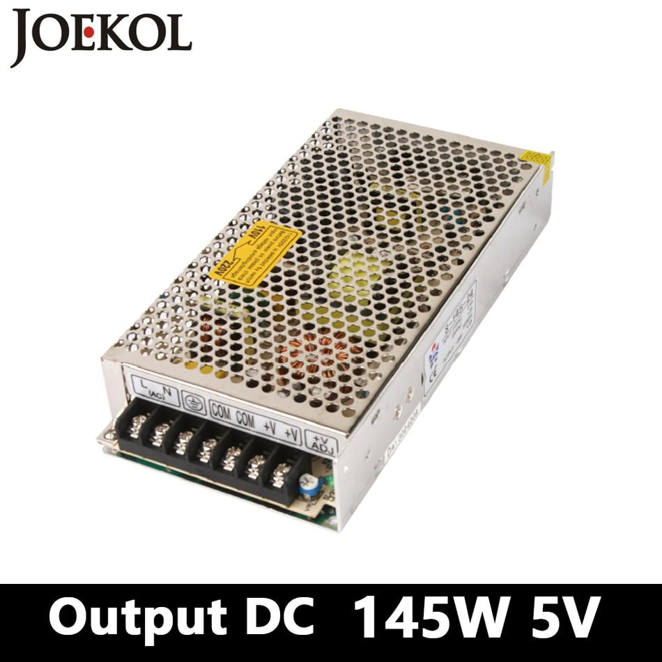 switching power supply 145W 5v 29A,Single Output voltage converter for Led Strip,AC110V/220V Transformer to DC 5V 145w 24v 6a single output switching power supply for led strip light ac to dc smps
