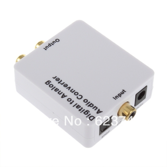 Digital SPDIF Optical Coaxial Toslink to Analog RCA L/R Audio Converter Adapter 5pcs/lot