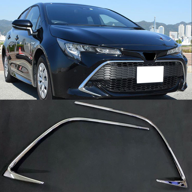 For Toyota Corolla Sport Hatchback 2019 ABS Chrome Car Front Center Grille Gird Stripe Trim Auto Exterior Accessories