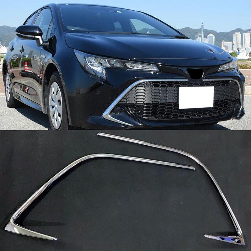Pour Toyota Corolla Sport Hatchback 2019 ABS Chrome voiture calandre centrale Gird rayure garniture Auto accessoires extérieurs