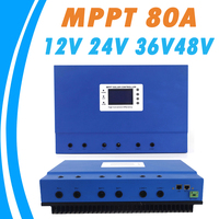 MPPT 80A Solar Charge Controller 12V 24V 36V 48V Auto for Max 150V Input with Memory Function 2 Years Warranty Solar Regulator