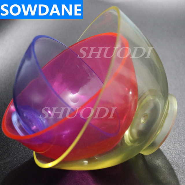 3 Pcs Dental Lab Silicone Flexible Rubber Mixing Bowl ( Large ,Medium, Small for your selection ) Random Color