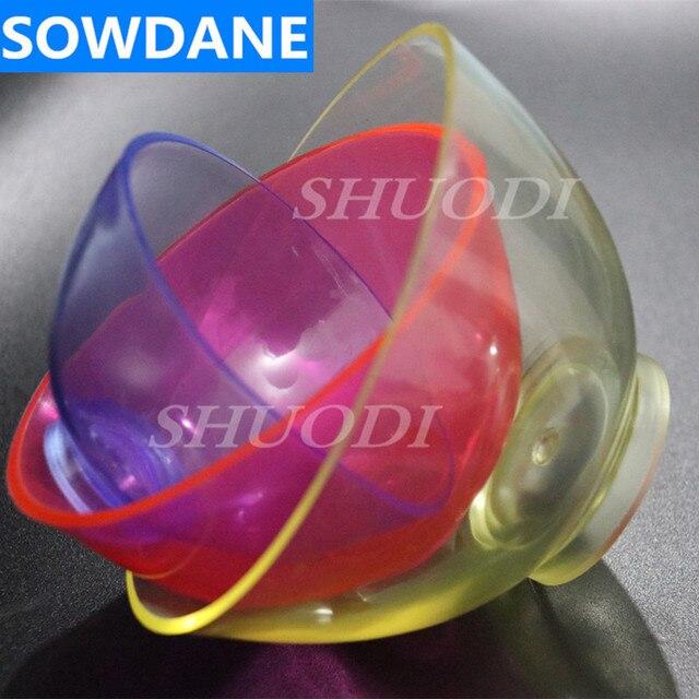 Cuenco de mezcla de goma Flexible de silicona para laboratorio Dental 3 piezas (grande, mediano, pequeño para su selección) color al azar