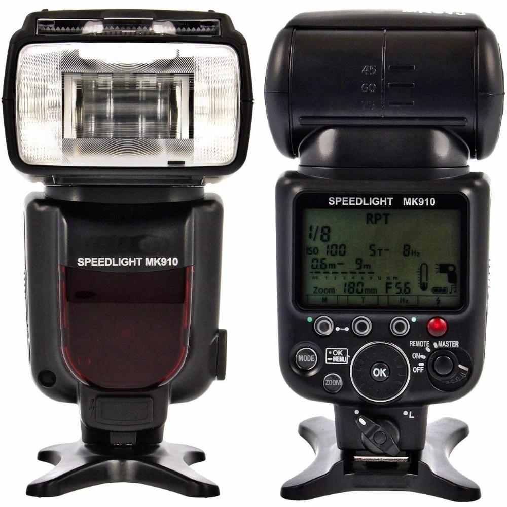 Luz de flash de câmera meike mk910 1/8000s, speedlite para nikon d7100 d7000 d5300 d5100 d5000 d5200 d90 d70 + presente gratuito
