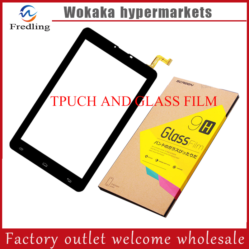 Toughened Protective Film+7 inch Black New touch screen Tablet PC touch panel digitizer HK70DR2671 HK70DR2671-V02 new 7 inch tablet pc mglctp 701271 authentic touch screen handwriting screen multi point capacitive screen external screen
