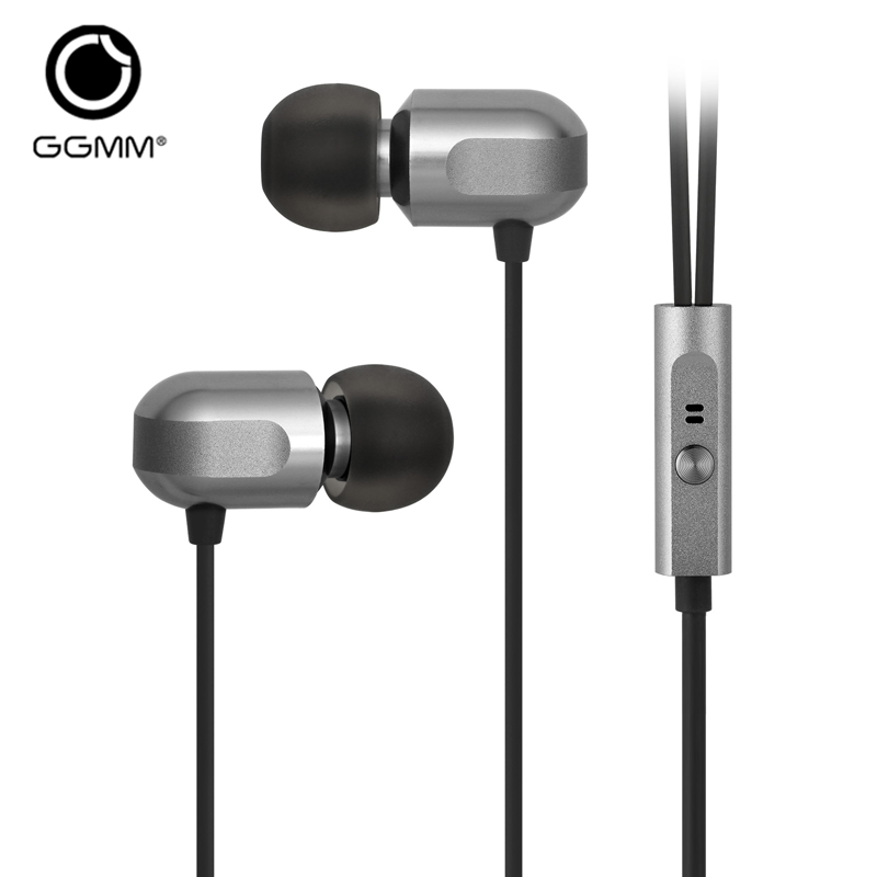GGMM C700 Wired Earphone fone de ouvido Headset Metal Earphone Stereo Headset Earphones with Mic Hands Free Earphone for Phone stereo music headphones 3 5mm wired in ear earphone noise isolating headset earbuds fone de ouvido hands free with mic