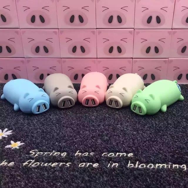 2016 10000 mah batería cerdo cerdo precioso banco de potencia powerbank portátil de dibujos animados de carga de diseño para iphone5 6 s xiaomi huawei