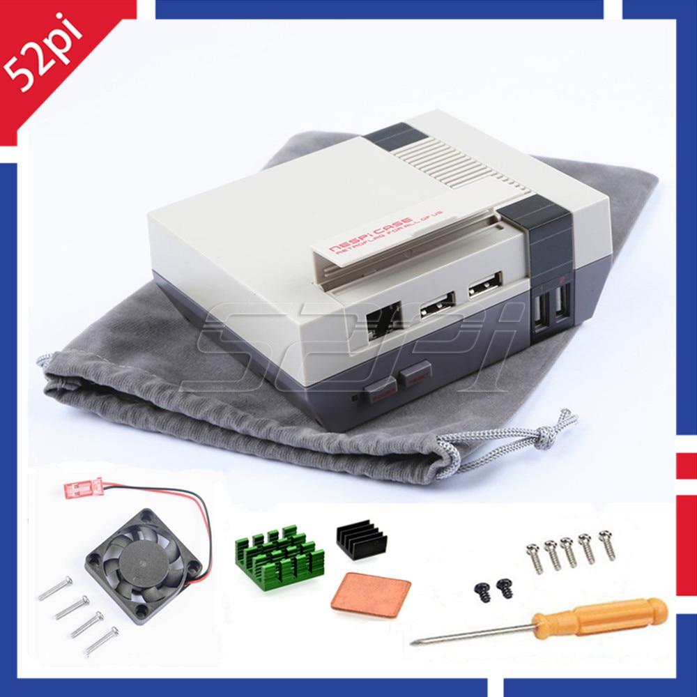 52Pi In Stock Mini NES NESPI CASE Retroflag Nespi Case Designed For Raspberry Pi 3 2