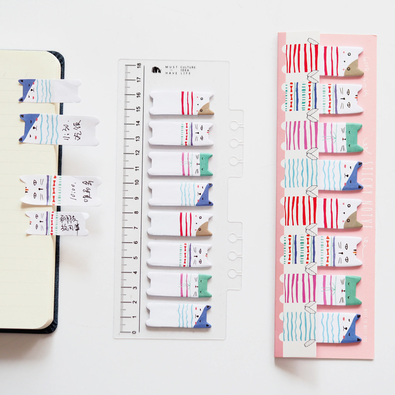 Outer Space Meow Cat With Ruler Memo Pad N Times Sticky Notes Escolar Papelaria School Supply Bookmark Label colorful guestbook gradient color memo pad n times sticky notes escolar papelaria school supply bookmark label