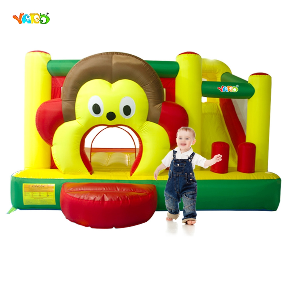 YARD Fedex Free Shipping Cartoon Monkey Inflatable Slide Bouncer Bouncy Castle Jumper Combo Special Offer For ASIA yard free shipping bouncy dream castle inflatable jumper bouncer 6 in 1 all round obstacle combo for home use