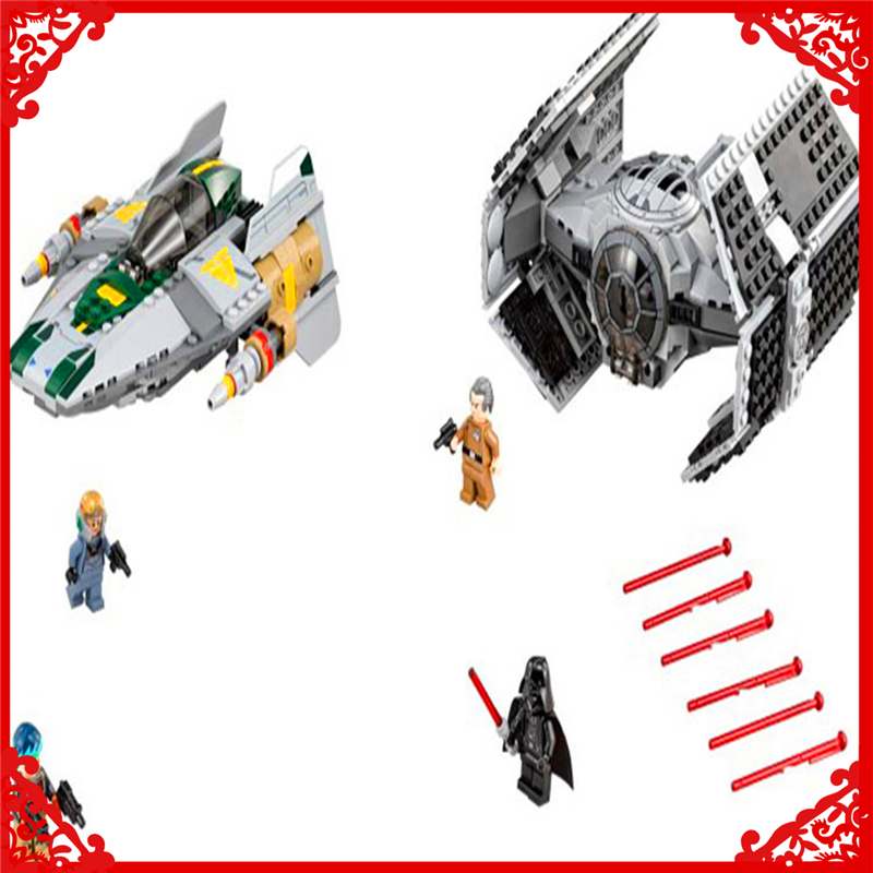 LEPIN 05030 Star Wars Vader Tie Advanced VS A-wing Building Block 722Pcs DIY Educational  Toys For Children Compatible Legoe lepin 05003 star wars first order transporter building block 845pcs diy educational toys for children compatible legoe