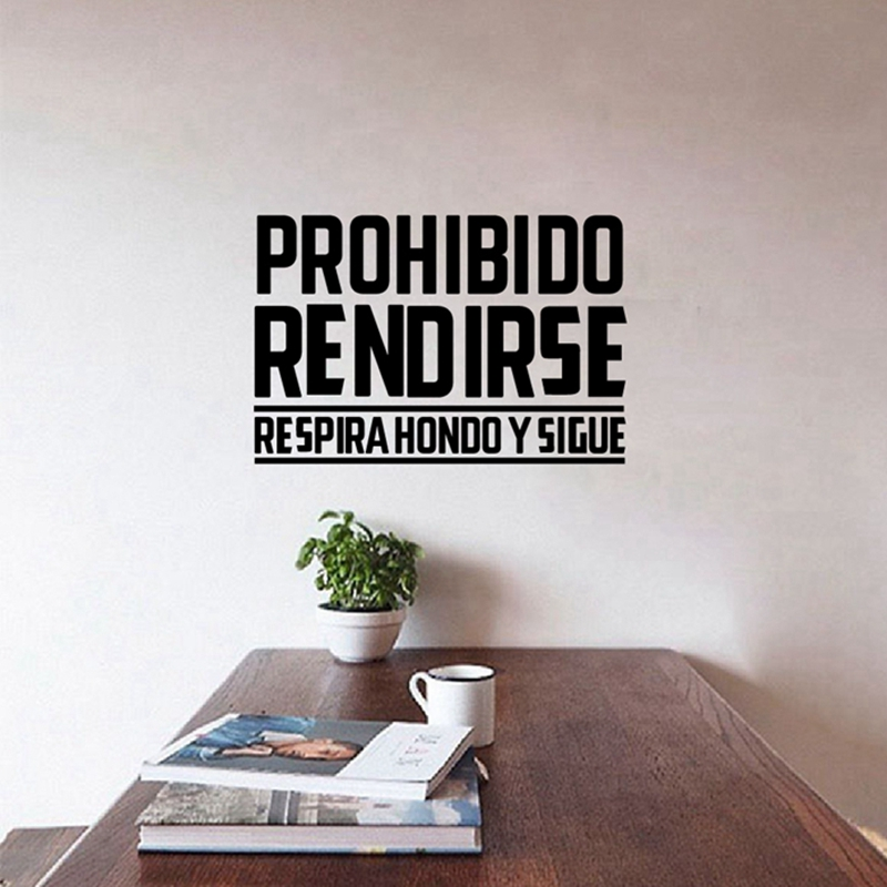 Spanish Office Vinyl Wall Stickers Inspirational Quotes