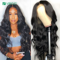 Virgo Hair Peruvian Lace Front Human Hair Wigs with Baby Hair Body Wave Wig for Black Women Remy Hair 150% Density