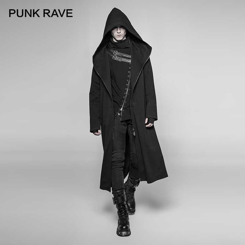 PUNK RAVE Gothic Visual Kei Long Trench Coat Dark Keel