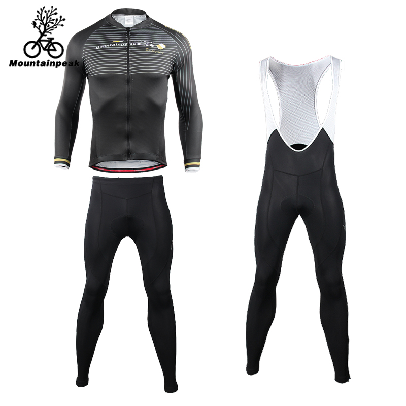 Mountainpeak 2018 Riding Suit Long Sleeved Jacket Summer Men Breathable Cycling Suit Women Riding Pants Straps Conjunto Ciclismo
