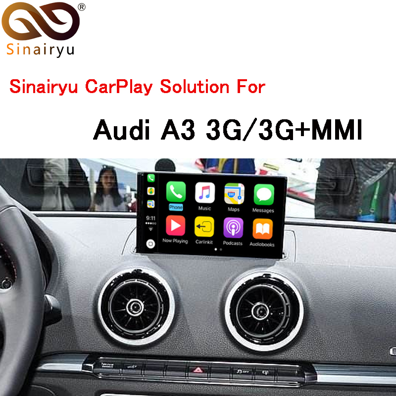 Sinairyu Автомобильный мультимедийный A3 3g MMI Smart Apple CarPlay коробка OEM Apple Carplay Android Auto IOS Airplay модернизации для Audi