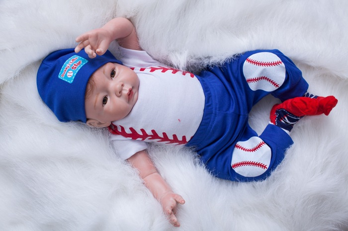 55cm lifelike silicone reborn baby soft body doll boy alive born mini dolls for girls toy
